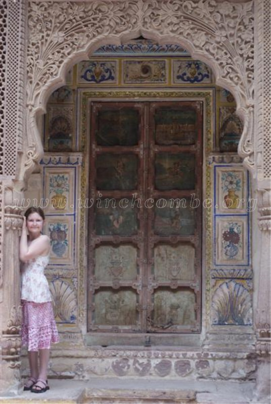 Mehrangarh Fort zenana doorway with cariving and inlay work