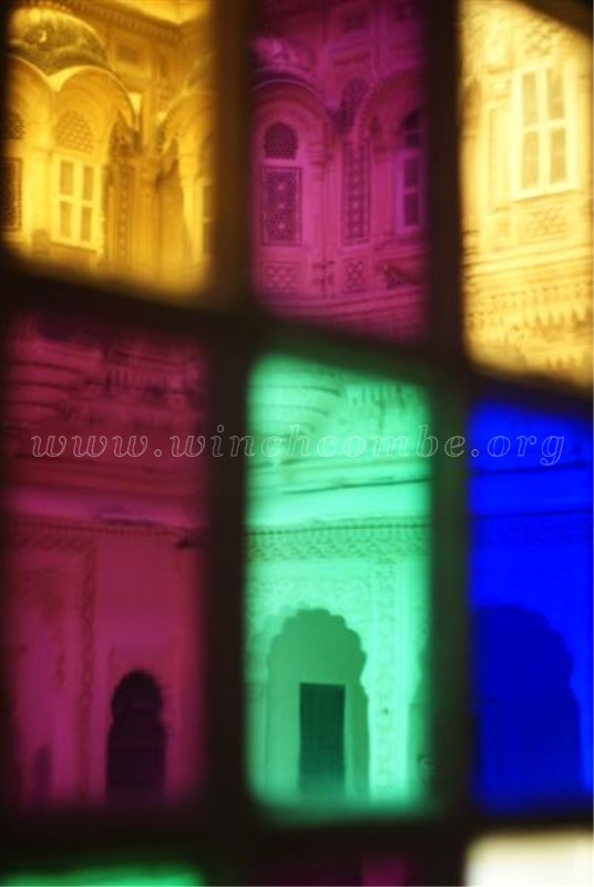 Mehrangarh Fort's colourful windows